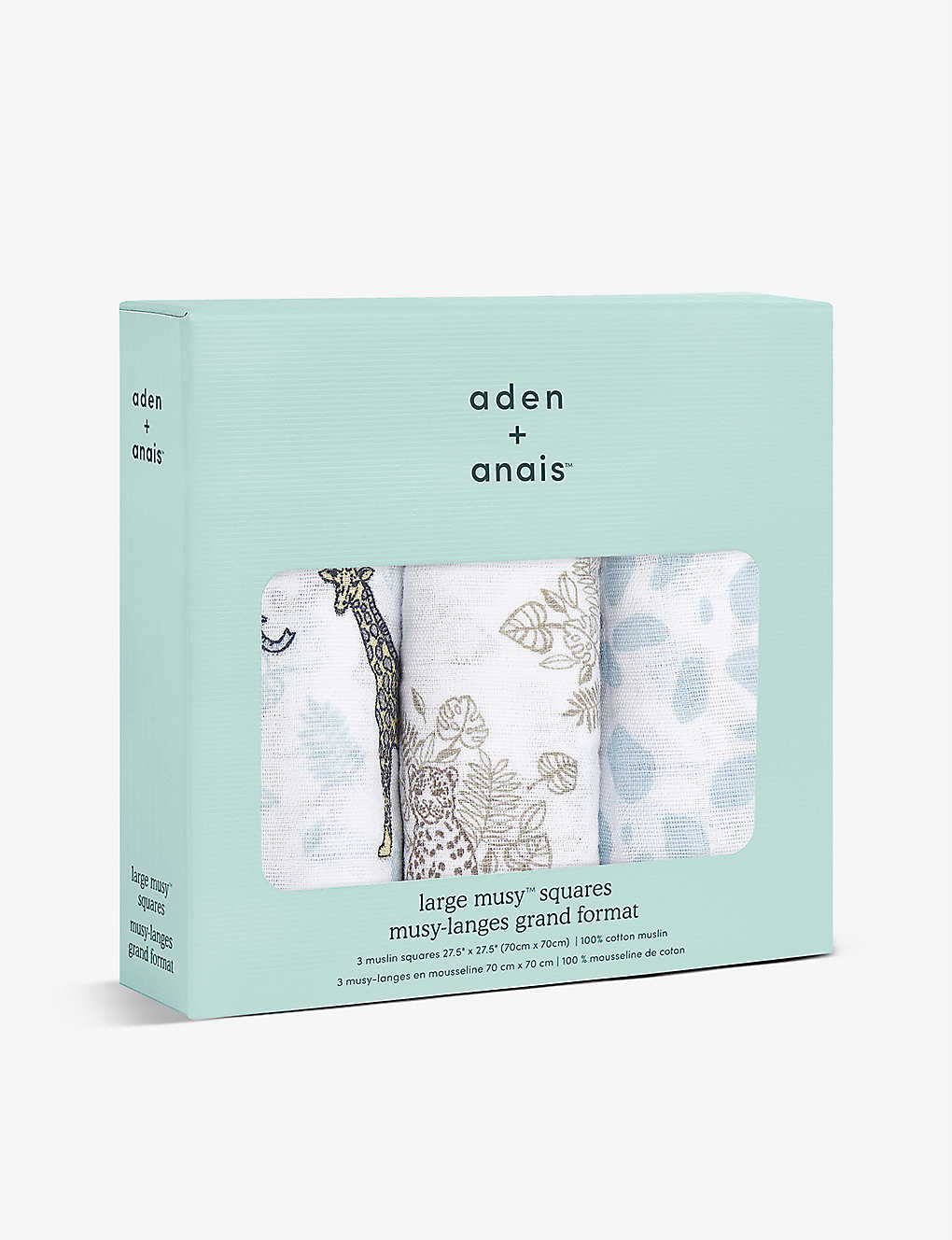 ADEN + ANAIS: Jungle cotton muslins pack of three
