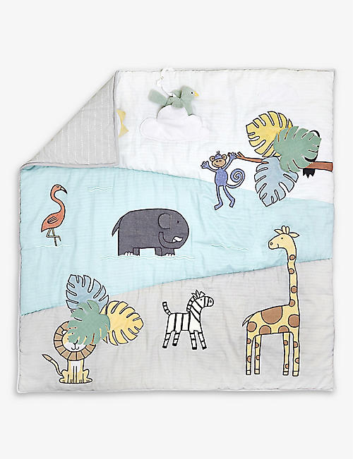 ADEN + ANAIS: Jungle bonding cotton-blend play mat 114x114cm