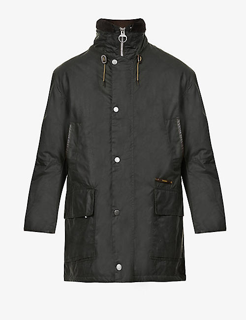 BARBOUR: Supa-Border waxed-cotton jacket