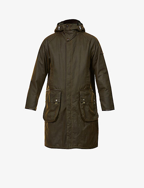 BARBOUR: Supa-Hunting waxed-cotton jacket