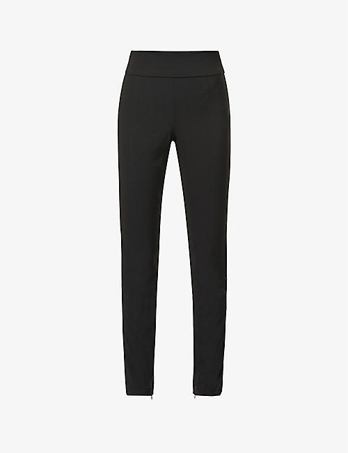 GOOD AMERICAN: The Boss straight-leg high-rise stretch-woven trousers