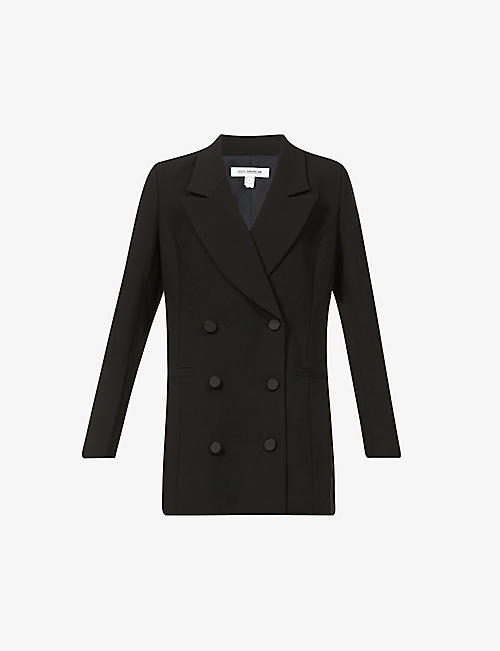 GOOD AMERICAN: Double-breasted stretch-woven mini blazer dress