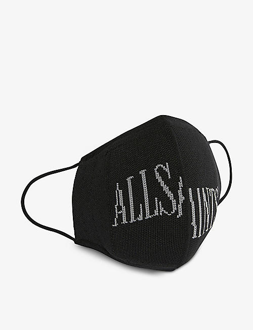 ALLSAINTS: Logo-print woven face covering