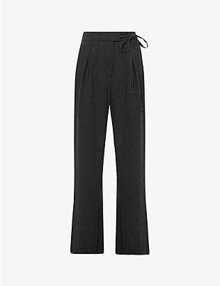 REFORMATION: Sonia tapered-leg high-rise woven trousers