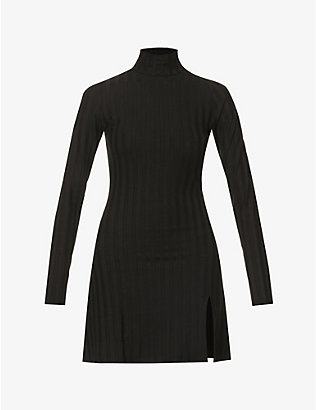 REFORMATION: Libra ribbed stretch-jersey mini dress
