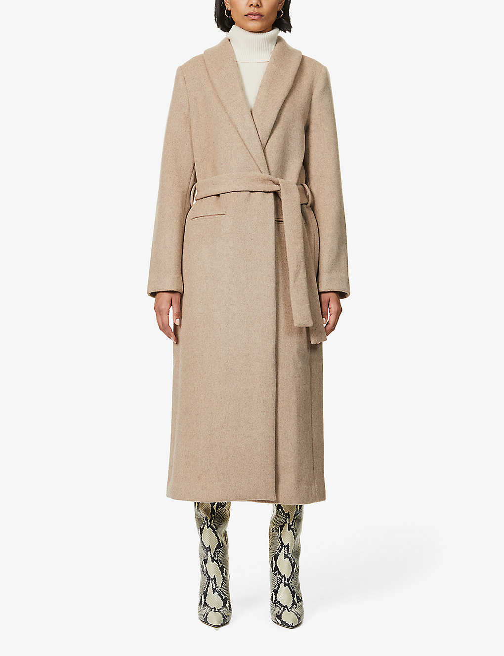 REFORMATION: Greenwich belted wool-blend coat