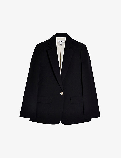 TOPSHOP: Single-breasted crepe blazer