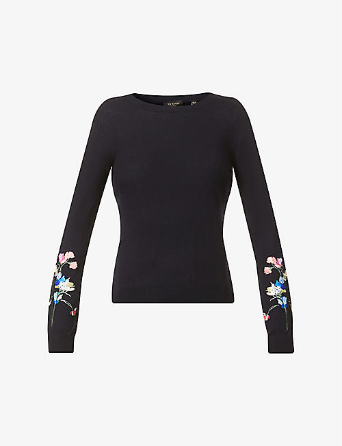 TED BAKER: Peppermint cotton-knit jumper