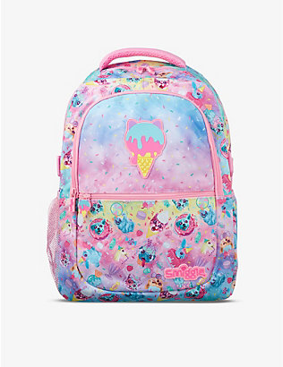 SMIGGLE: Galaxy Attach cartoon-print woven backpack