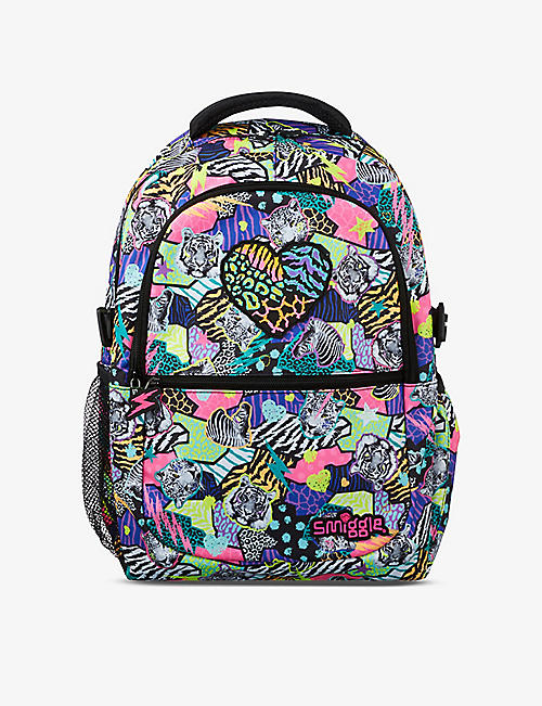 SMIGGLE: Galaxy Attach animal-print woven backpack