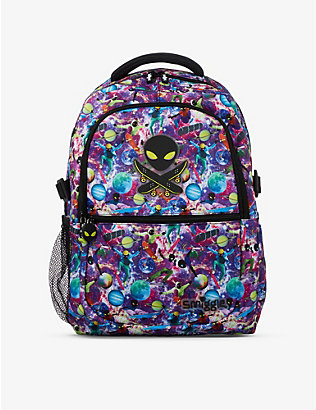 SMIGGLE: Galaxy Attach space-print woven backpack