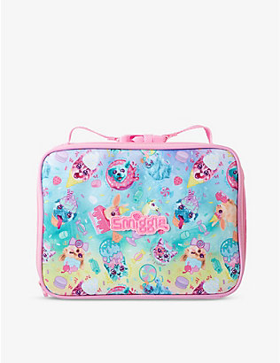 SMIGGLE: Galaxy Attach Square animal-print woven lunchbox
