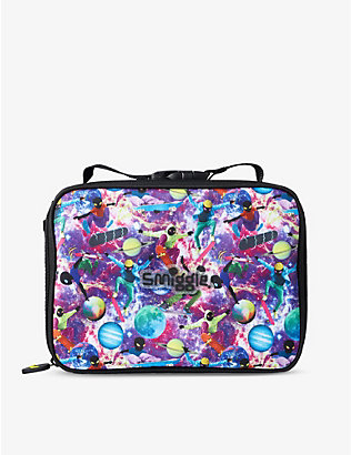 SMIGGLE: Galaxy Attach Square space-print woven lunchbox