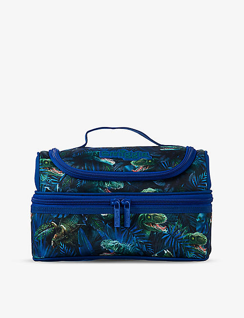 SMIGGLE: Galaxy dinosaur-print double-decker lunchbox