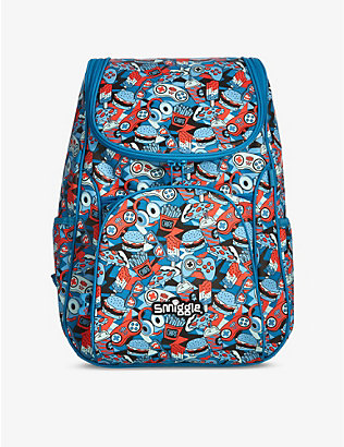 SMIGGLE: Illusion Reflective Access food-print woven backpack