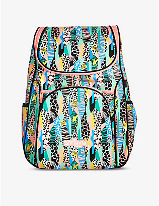 SMIGGLE: Illusion Reflective Access wild-print woven backpack