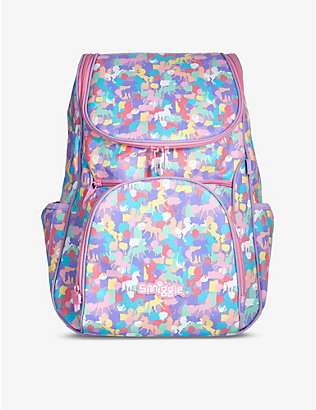 SMIGGLE: Illusion Reflective Access unicorn-print woven backpack