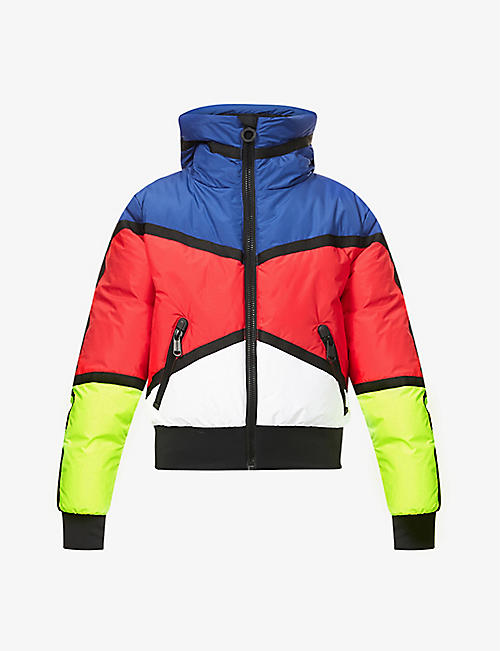 GOLDBERGH: Mondriaan padded recycled-polyester jacket