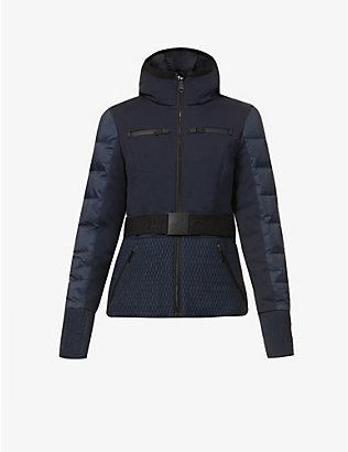 GOLDBERGH: Stylish belted stretch-woven jacket
