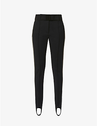 GOLDBERGH: Paige slim-fit mid-rise stretch-woven trousers