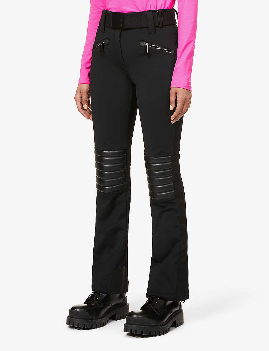 GOLDBERGH: Rocky bootcut mid-rise stretch-woven trousers