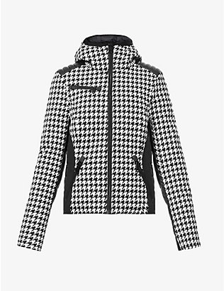 GOLDBERGH: Kate houndstooth-print woven jacket
