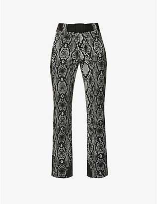 GOLDBERGH: Diamond snake-print shell ski trousers