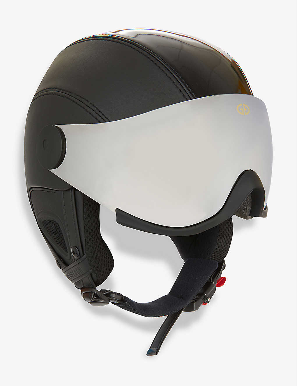 GOLDBERGH: Glam visor faux-leather ski helmet