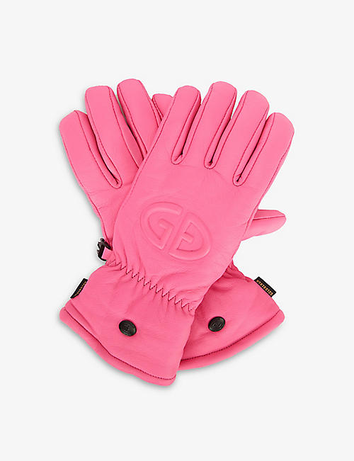 GOLDBERGH: Freeze logo-embossed leather ski gloves