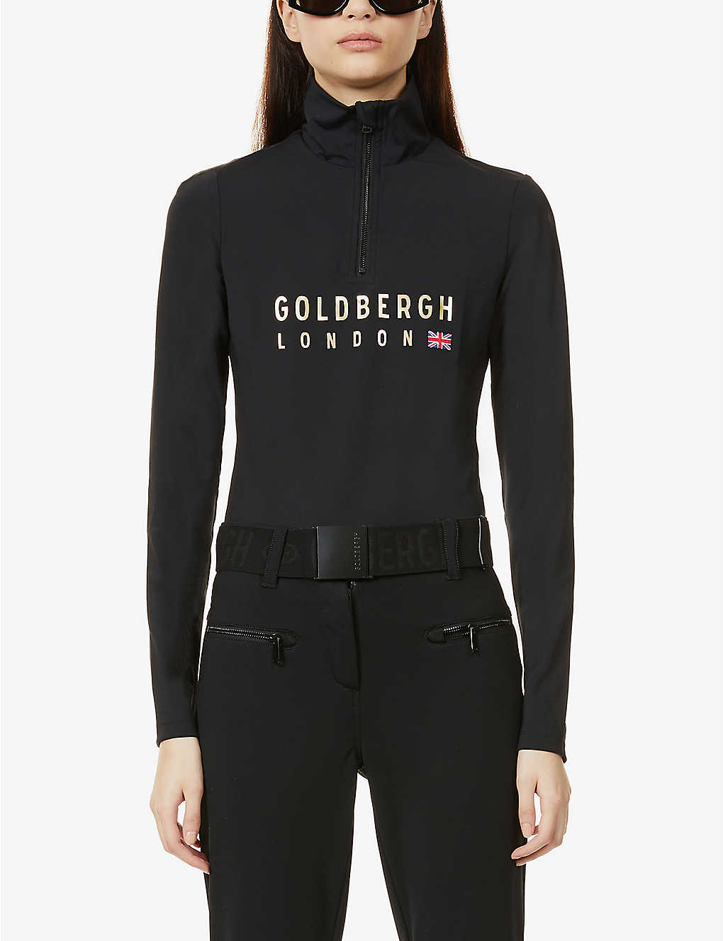 GOLDBERGH: Margaret logo-print stretch-woven body