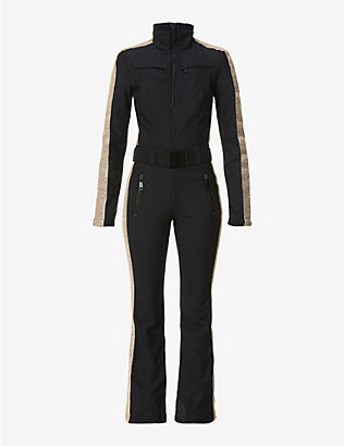 GOLDBERGH: Elizabeth funnel-neck stretch-woven jumpsuit