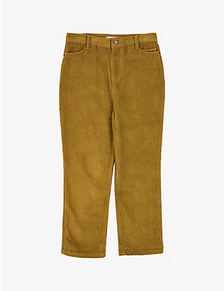 CARAMEL: Crow cotton-corduroy trousers 3-12 years
