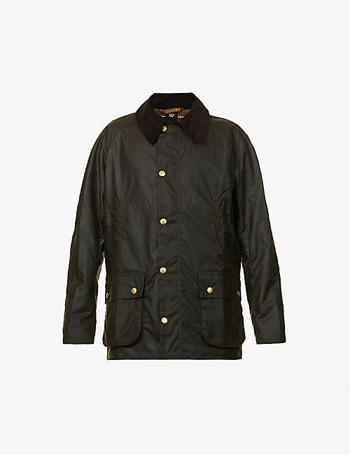 BARBOUR: Ashby corduroy-trimmed waxed cotton jacket