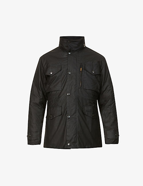 BARBOUR: Sapper waxed-cotton jacket