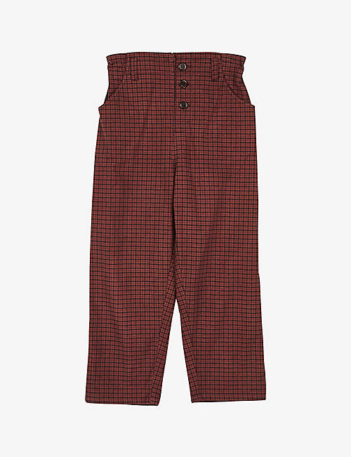 CARAMEL: Vulture cotton trousers 3-6 years