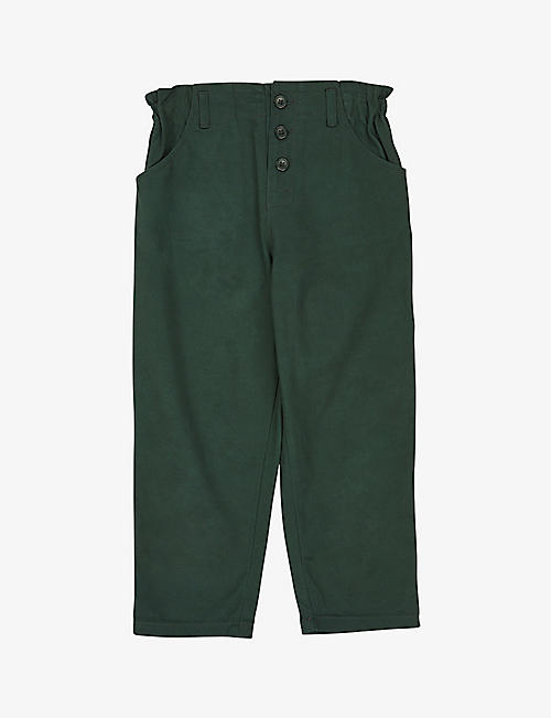 CARAMEL: Vulture cotton trousers 8-12 years