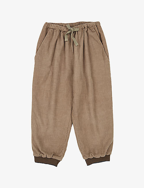 CARAMEL: Wren cotton corduroy trousers 3-6 years
