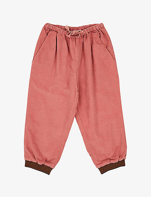 CARAMEL: Wren cotton corduroy trousers 8-12 years