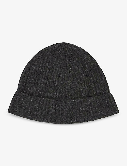 CARAMEL: Yellowhammer extra-fine Merino wool beanie hat 2-12 years