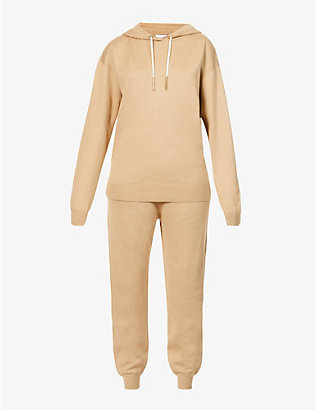 OLIVIA VON HALLE: Gia stretch-silk and cashmere-blend tracksuit