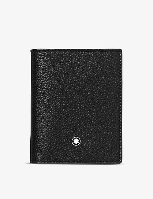 MONTBLANC: Meisterstück grained leather business card holder
