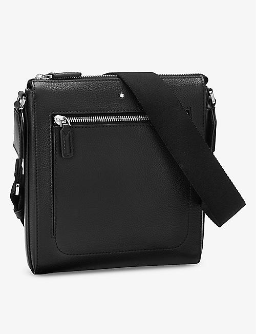 MONTBLANC: Meisterstück grained leather envelope bag