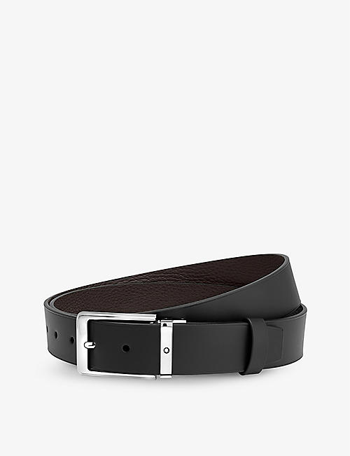 MONTBLANC: Reversible leather belt