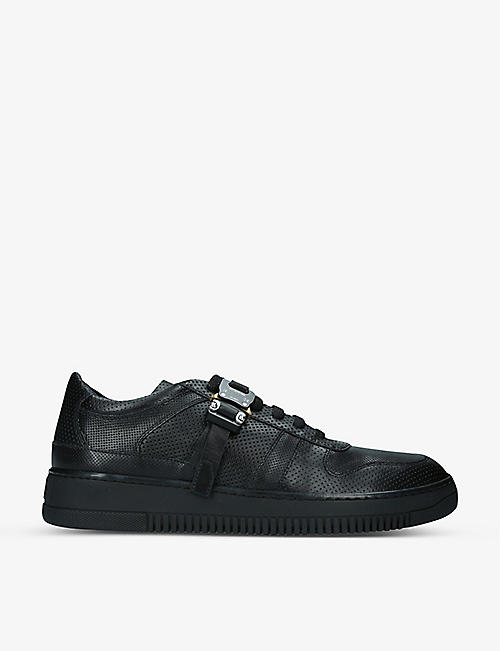 ALYX: Buckle-embellished perforated-leather trainers