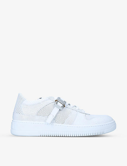 ALYX: Buckle-embellished leather low-top trainers