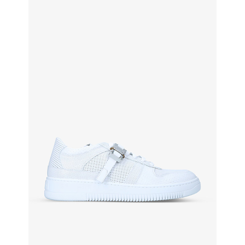 Alyx BUCKLE-EMBELLISHED LEATHER LOW-TOP TRAINERS
