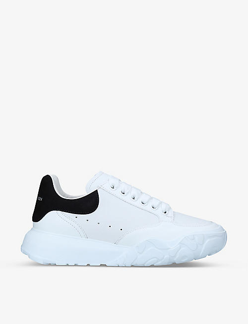 ALEXANDER MCQUEEN: Court chunky-sole leather trainers