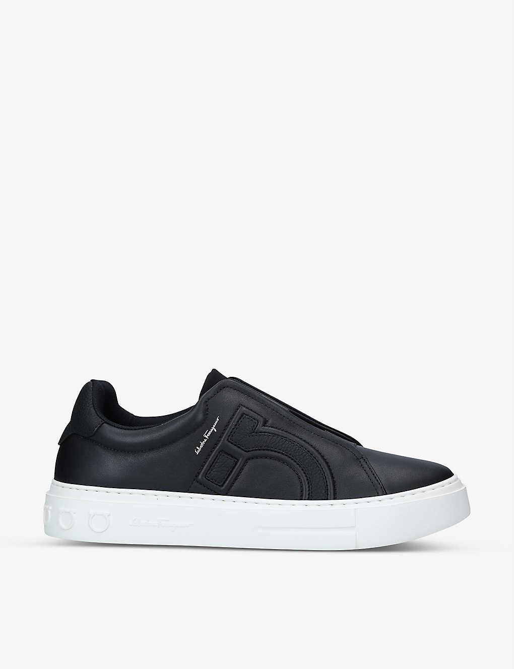 SALVATORE FERRAGAMO: Gancini leather low-top trainers