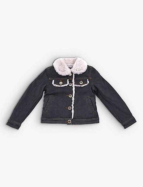 KIDSWEAR COLLECTIVE: Pre-Loved Marc Jacobs denim jacket with faux-fur lining 5 years