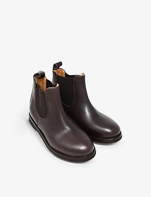 KIDSWEAR COLLECTIVE: Pre-loved Loro Piana leather Chelsea boots